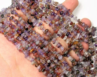 Super seven  - 3mmx5mm pebble chip stone - 16 inch strand - 150 beads - A Quality - PSC428