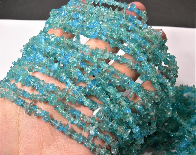 Apatite gemstone chip stone -  A quality - 35 inch strand - RFG1701