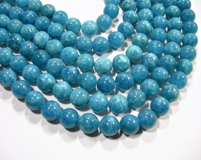 Blue sponge quartz - 12mm round beads - full strand - 32 beads -  AA quality - RFG1890