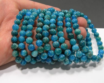 Apaptite - 8mm(7.8mm) round beads - 23 beads - 1 set - HSG124