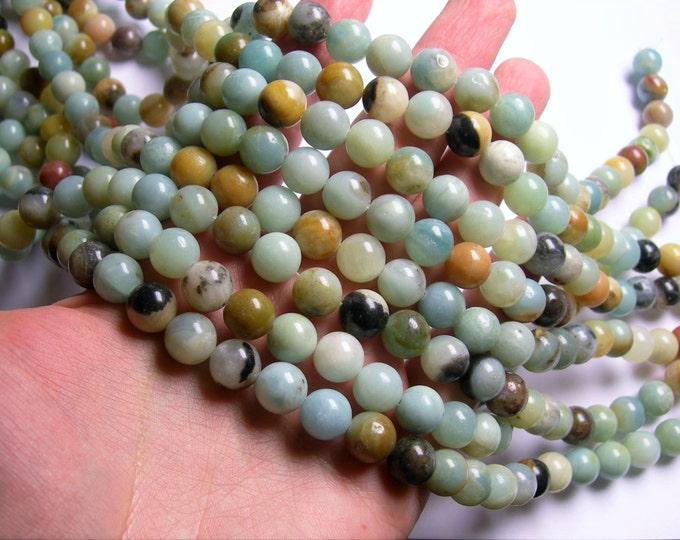 Amazonite - 10mm(10.4mm) round beads -1 full strand - 37 beads - RFG1101