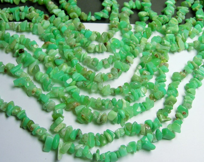 Chrysoprase - 36 inch strand - pebble - chip stone - AA quality - chrysophrase - PSC49