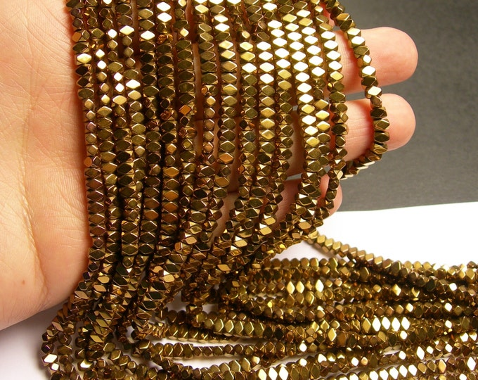 Hematite bronze - 4.4mm faceted rectangle - full strand - 138 beads - AA quality - PHG161