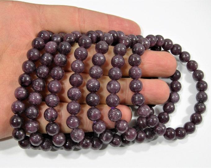 Lepidolite - 1 set - 8mm  - 23 beads - A quality - HSG145