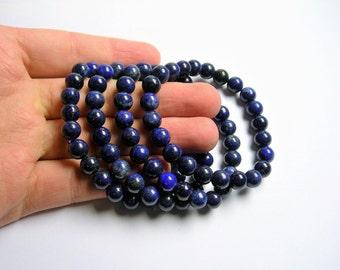 Lapis Lazuli  - 8mm round beads - 23 beads - 1 set - A quality  - HSG46