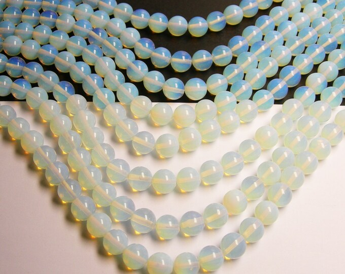 Opalite -  12mm  round - 35 beads per strand - moonstone substitute - RFG127