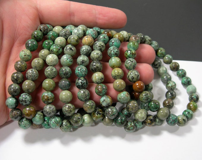 African turquoise  - 8mm round beads - 23 beads - 1 set - A quality - HSG213