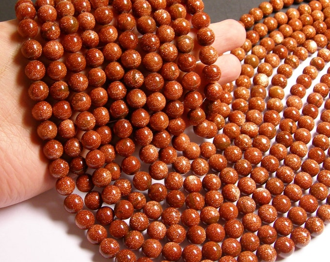 Goldstone - 10mm round - full  strand - A quality - 39 beads per strand - RFG120