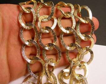 Gold chain - 1 meter-3.3 feet  - made from aluminum - textured - NTAC129
