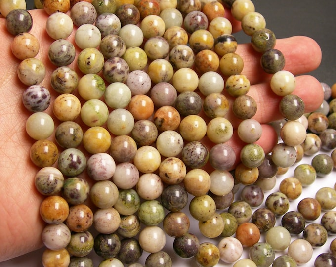 Purple Moss agate - 10mm round beads - full strand  - 40 beads - RFG22A