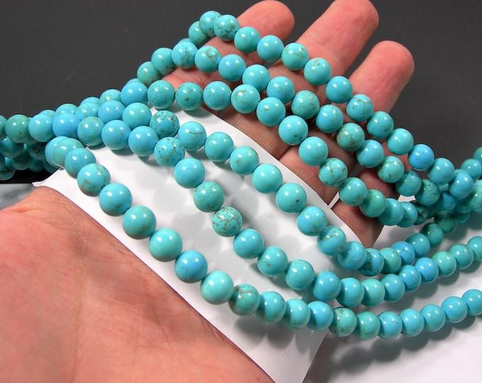 Howlite turquoise -  8mm beads -  full strand - 48 pcs - RFG2176