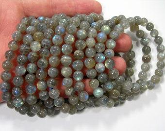 Labradorite - 8mm round beads - 23 beads - A quality -1 set - HSG137