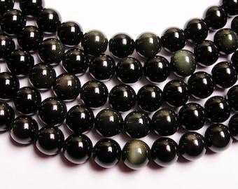 Rainbow Obsidian - 8 mm round beads - full strand  48 beads - AA quality - RFG719