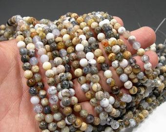 Dendritic Opal - 6mm round beads - full strand - 66 beads - RFG2050