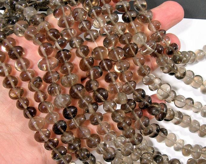 Smoky Quartz - bead - 50 beads - full strand - nugget - pebble - A quality - smoky quartz - PSC349