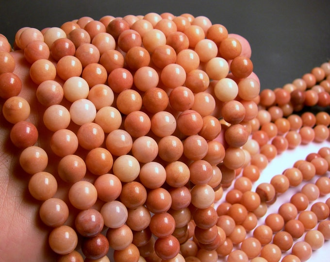 Pink aventurine  - 10mm(10.2mm) round beads -1 full strand - 39 beads - Aa Quality - RFG41