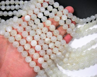 Moonstone - 10mm  round beads -1 full strand - 40 beads - RFG1873