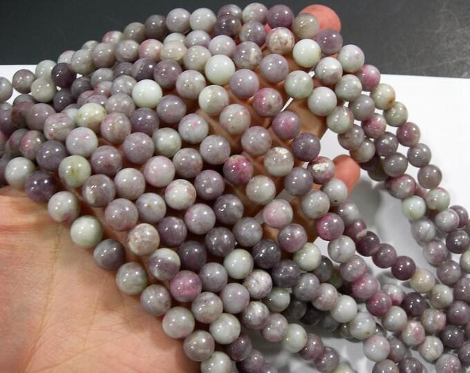 Natural Chinese Tourmaline - 10mm  round beads - full strand 39 beads - Lilac Jasper Beads -  RFG1766