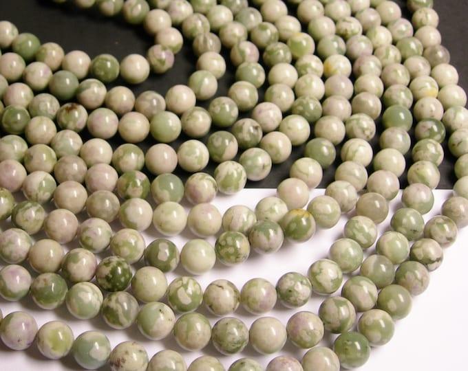 Peace Jade - 10 mm round beads - 40 beads per strand - Lucky jade - harmony jade - RFG183