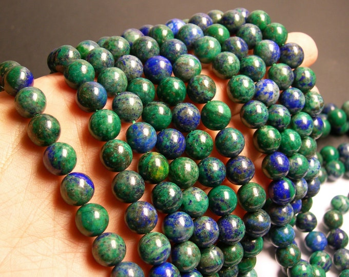 Azurite - 10mm (10.4mm) round beads -1 full strand - 38 beads - RFG43