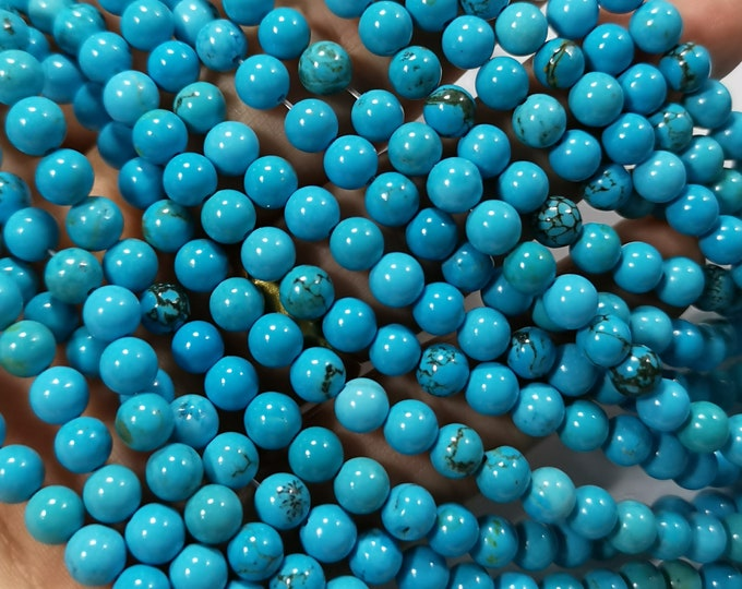 Howlite turquoise -  6mm beads -  full strand -  67 pcs - A Quality - RFG2251