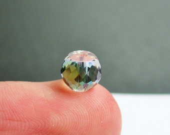 Crystal faceted rondelle barrel - 20 pcs - 8mm x 6mm - AA quality - Watermelon ab - BCR7