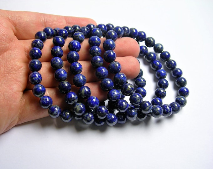 Lapis Lazuli  - 8mm round beads - 23 beads - 1 set - A quality - Natural not dye  - HSG68