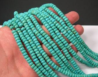 Magnesite turquoise - 6mm rondelle beads -  full strand - 114 beads - RFG2117