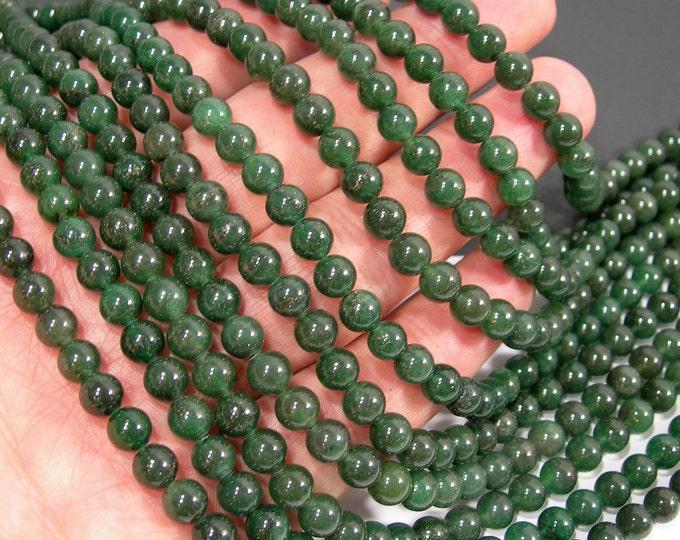 Green Aventurine 6mm round beads -  full strand - 64 beads - Brazil Aventurine - RFG36
