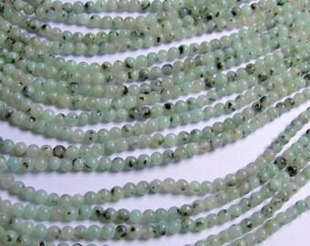 Lotus Jasper - 4 mm round   beads -1 full strand - 90 beads - RFG488