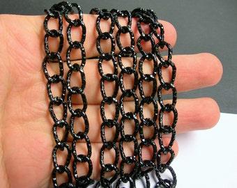 Black chain - 1 meter - 3.3 feet - aluminum chain - NTAC130