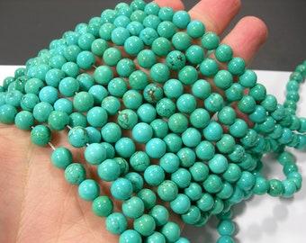 Howlite turquoise - 8mm round beads - full strand - 50 beads  - RFG1744
