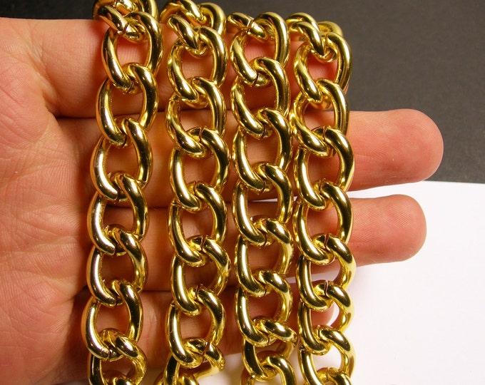 Gold chain -  gold twisted chain - 1 meter - 3.3 feet - aluminum chain - NTAC136