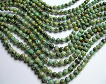 Turquoise African - 8 mm round - full strand  48 beads - WHOLESALE DEAL - RFG236
