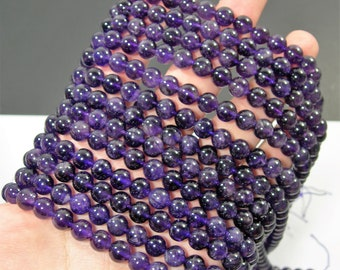 Amethyst - 8 mm round -  full strand - 48 beads - RFG91