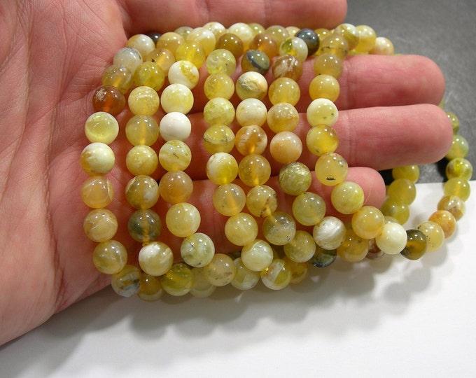 Yellow Opal  - 1 set - 8mm  - 23 beads - HSG269