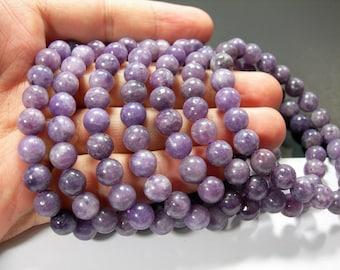 Lepidolite - 1 set - 8mm  - 23 beads - HSG280