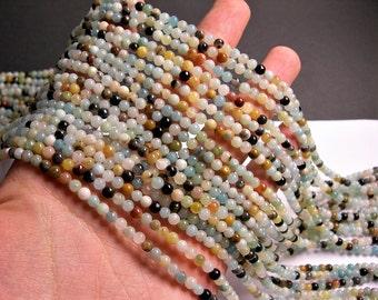Amazonite 4mm round beads 16 inchstrand - 97 beads - RFG1346