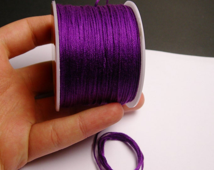 Cotton Cord - knotting - embroidery cord - 1mm - 120 meter - 390 foot - Purple - CTN2
