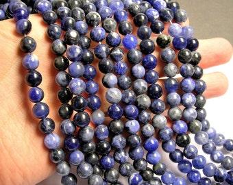Sodalite - 8 mm round beads - full strand - 47 beads - WHOLESALE DEAL - RFG793