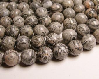 Picasso Jasper - 12mm - round beads - 33 beads - 1 full  strand - RFG312