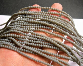 Crystal faceted rondelle - 3.5mmx2.5mm - Grey - 147 pcs - full strand - CRV171
