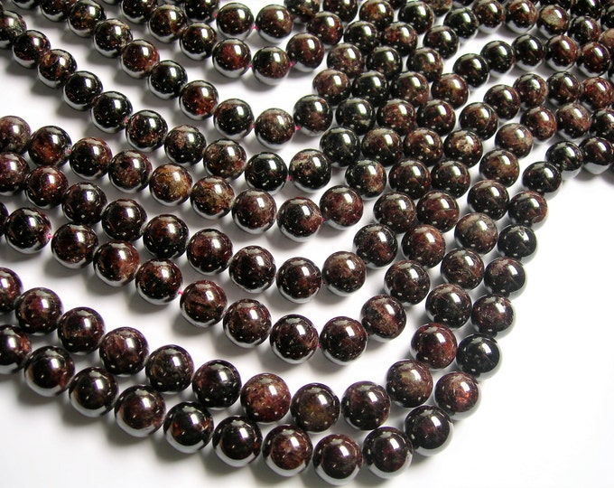 Garnet - 12mm (12.5mm) round beads -1 full strand - 32 beads - Red - RFG1231