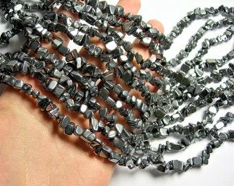 Terahertz - chip stone - A quality - 1 full strand - Terahertz ore - PSC347