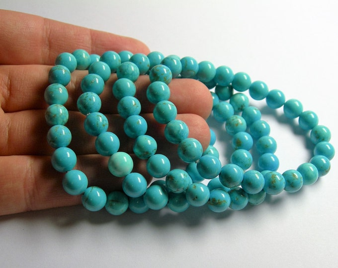 Howlite turquoise - 8mm round beads - 23 beads - 1 set - A quality - HSG17