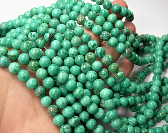 Crazy Lace Agate - 8mm round - 1 full strand - 48 beads - A quality -Sea Green crazy lace - RFG1608