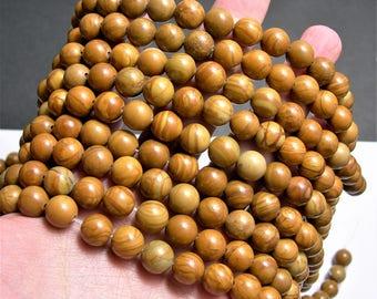 Wood Jasper - 10 mm round beads -1 full strand - 40 beads - WHOLESALE DEAL - RFG1152
