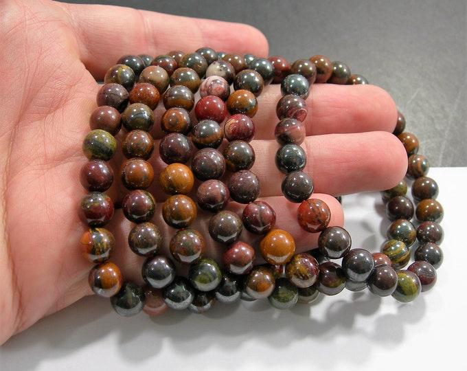 Mix tiger iron  - 1 set - 8mm(8.5mm)  - 23 beads - A quality  - HSG156