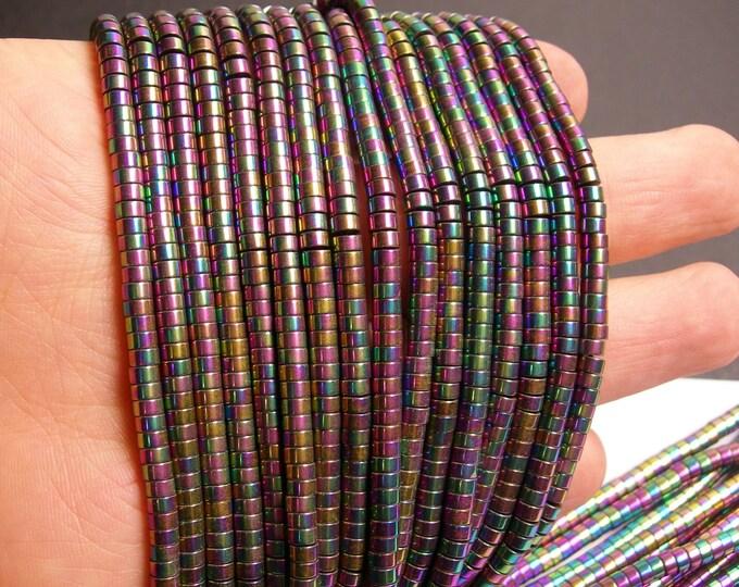 Hematite rainbow - 4mm heishi beads - full strand -190 beads - AA quality - 4x2 - PHG66