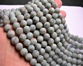 Lotus Jasper matte - 10 mm round   beads -1 full strand - 39 beads - sesame jasper - matte - RFG1206